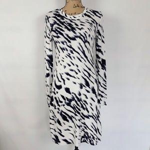 Kensie Pieces Long Sleeve Tee Shirt Dress Size S